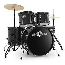 BDK-1 Full Size Starter Drum Kit by Gear4music Black