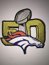 NFL Super Bowl 50 Golden Logo sew-on Jersey PATCH Denver Broncos