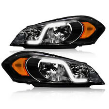 Led Drl Fit For 2006 2016 Chevy Impala Smoked Amber Headlightlamp Pair Fits 2006 Impala