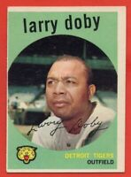 1959 Topps #455 Larry Doby EX-EX+ Hall of Fame Detroit Tigers FREE SHIPPING