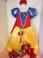 Snow White Halloween costume Dress Small 4-6, girl Shoes  Multiple Accessories