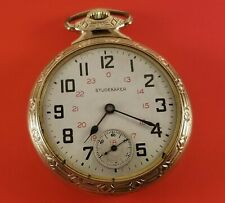"Vintage Southbend ""Studebaker"" Pocket Watch Gold Fill 21 Jewels S/N 1209907"