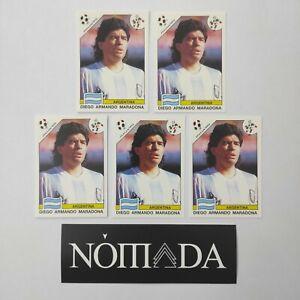 Diego Maradona Panini Sticker 1986 and 1990 WSC Mint!!