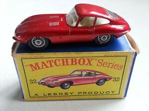 Vintage Matchbox Lesney 1-75 - No 32 'E' Type Jaguar  - Boxed