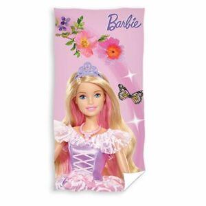 Handtuch   70 x 140 cm   Barbie   Kinder Strandtuch   Badetuch   Strandlaken