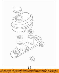 CHRYSLER OEM-Brake Master Cylinder 5179892AA