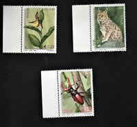 francobollo repubblica italiana 2002 Flora e fauna serie 3 valori nuovi mnh