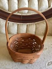 Longaberger 1993 Round Basket With Stationary Handle and Plastic Protector