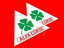 "4"" 102mm alfa corse romeo clover leaf fender Decal Sticker quadrifoglio verde ti"