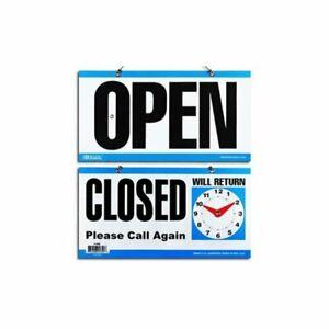 Open - Closed Will Return Sign Business Shop Door Restaurant Hand Crafted Clock