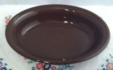 Fiestaware Chocolate Oval Vegetable Bowl Fiesta Retired Brown Serving Bowl