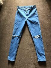 Topshop Blue Joni Jeggins Jeans Size W28/L30