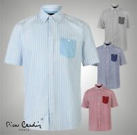 Mens Pierre Cardin Short Sleeves Pocket Shirt Top Sizes from S to XXXL