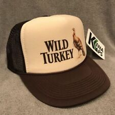 Wild Turkey Whiskey Trucker Hat Vintage Snapback Cap Bourbon Tan Brown 2250