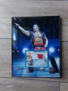 🔥WWE Wrestling Framed Photo SHAWN MICHAELS W/Certified Autograph Topps Card JSA