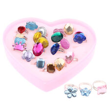 Pack of 24 Girls Dress Up Ring Party Bag Fillers Toys Favor Gift