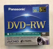 Panasonic LM-RW30U 5 Single-sided 30 Minute 8cm DVD-RW Disc for DVD Camcorders