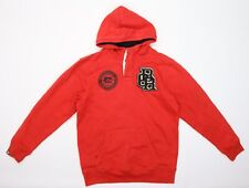 Carbrini Boys Red  Jersey Pullover Hoodie Size 14-15 Years