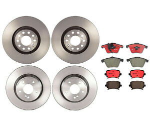 Brembo Front & Rear Full Brake Kit Disc Rotors Ceramic Pads For Audi A4 Quattro