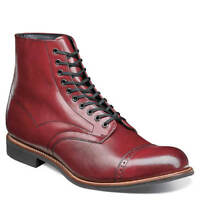 Stacy Adams Mens Madison Ankle Boot Cap Toe Lace Cranberry  00101-608