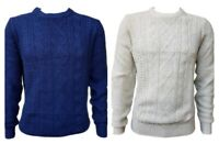 Men`s New NEXT Wool Blend Cable Knit Jumper Size XS-S-M-L-XL-2XL-3XL Sweater