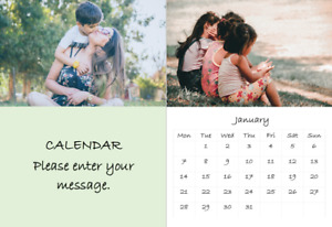 2021 Personalised A3 Wall Calendar, makes great gift. Use your own photos.