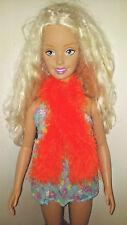 Orange Fun Fur Boa Scarf For The My Size Barbie Doll