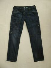"""River Island Slouch dist/bleach/worn low rise jeans W 32"""" i'lg 30.5"""" Size 10 R"""
