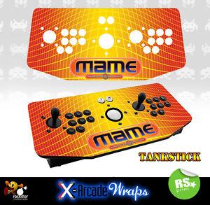 Mame V1 X Arcade Artwork Tankstick Overlay Graphic Sticker