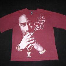 Vintage Makaveli Tupac 2pac Smoking Cross Shirt * RARE * XXL 2XL Bling