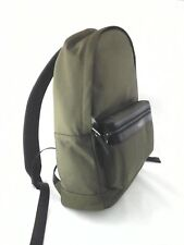 MICHAEL KORS Backpack Kent MK Military Olive Green/Black Leather Trim Bag $198