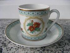 TASSE à MOKA Porcelaine LIMOGES HAVILAND AUSTRIAN COPPER Bord Vert et or mat