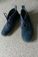 Barbour dark blue, suede, lace up desert shoes size 4