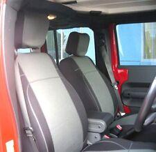 Jeep Wrangler Unlimited 2007-16 Neoprene Full Set Seat Cover 4 Doors Grey no4d