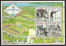 ALAND. 1991. Small Island Games Miniature Sheet. SG: MS49. Mint Never Hinged.