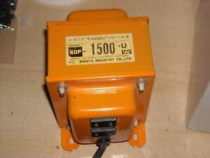 NISSYO NDF-1500U Voltage Converter 110V-120V to 100V 1500W Transformer Japan