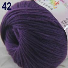 Sale New 1Ball x 50g Cashmere Silk Wool Hand Knit Wrap Shawls Crochet Yarn 42