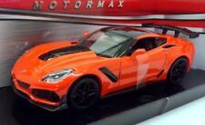 CHEVROLET CORVETTE ZR1 2019 1:24 Scale Diecast Toy Car Miniature Model Orange