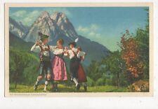 Werdenfelser Schuplattler Vintage Postcard Switzerland 389a