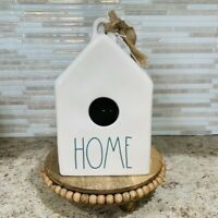 """Rae Dunn """"HOME"""" Square Birdhouse LL By Magenta Green Lettering"""