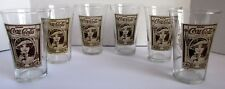6 Vintage Coca Cola Turn Century Flair Glass Coke Archives Woman Lady 70-80's