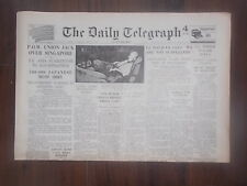 DAILY TELEGRAPH WWII NEWSPAPER SEPTEMBER 13th 1945 JAPAN SURRENDERS