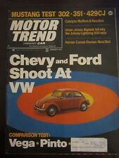 Motor Trend Magazine January 1971 Chevy and Ford Shoot at VW Beetle J H E1 B1