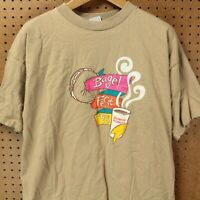 vtg usa made 1998 Dunkin Donuts Bagel Fest graphic t-shirt XL tag 80s 90s dd