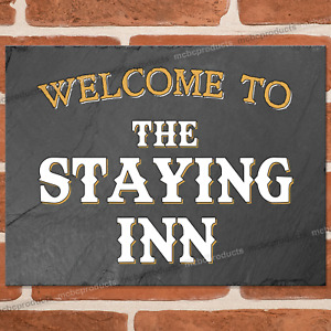 THE STAYING INN Metal Signs Funny Pub Bar Wall Mancave Retro Plaque Tin Sign UK