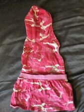 DOG COAT - SUIT SMALL DOG - Pink With Sparkles And Hood 14""