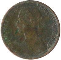 1861 ONE FARTHING OF QUEEN VICTORIA / VERY NICE COLLECTIBLE COIN #WT2378