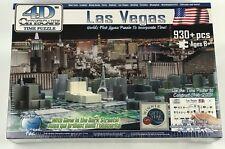 Las Vegas 4D Cityscape Time Puzzle Glow In The Dark 930+ Pieces Bat 1010