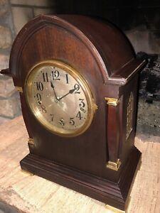 """C. 1917 WATERBURY """"CHIME CLOCK N0.501 WESTERMINSTER MANTLE CLOCK FOR RESTORATIO"""