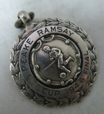Antique Silver Fob Medal Peake Ramsay Cup Final 1946 A637317